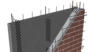 drawing showing layers of CarbonCast High Performance Insulated Wall Panels